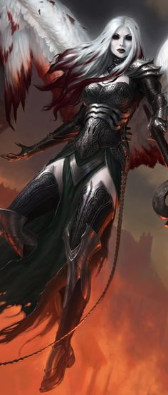 Magic the Gathering, Avacyn The Purefier, by James Ryman - dark fantasy Fantasy Women, Dark Fantasy Art, Fantasy Girl, Fantasy Artwork, Dark Art, Fantasy Art Warrior, Dark Warrior, Character Inspiration, Character Art