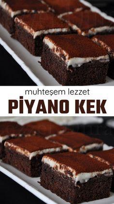 Piyano Kek - Nefis Yemek Tarifleri - - Finance tips, saving money, budgeting planner Snack Recipes, Dessert Recipes, Desserts, Dinner Recipes, Piano Cakes, Pasta Cake, Chocolate Biscuits, Muffins, Keto Brownies