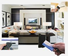 Home Automation:  Our automation system offers centralized control of all electrical devices, integrated at one place, which then uses information technology and via a computer, gives the power to control the home appliances using a remote. With integrated control at one's fingertips, managing home becomes simplified. You have control over lighting, curtains, air conditioner, and other appliances just at the touch of a button.