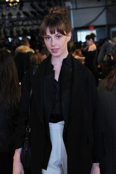 Elettra Wiedemann Front Row at DKNY