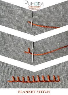 Pumora's embroidery stitch-lexicon: the blanket stitch