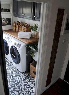 Gorgeous laundry room tile design ideas (18)