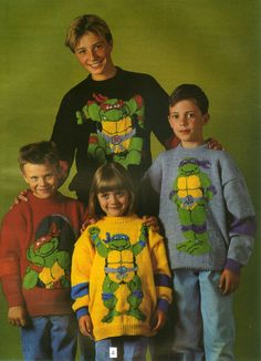Our favourite tmnt sweaters.