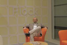 HON showroom #NeoCon12 Brian Kane, designer of Flock