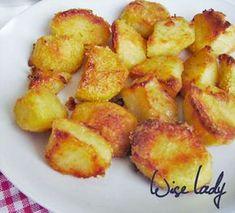 Pirított krumpli - roasted potatoes - Anya főztje Roasted Potatoes, Food 52, Potato Salad, Recipies, Food And Drink, Cooking Recipes, Lunch, Vegetables, Breakfast