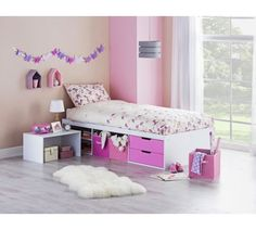 Buy HOME Callum Cabin Bed, Pull Out Desk & Elliott Mattress-Pink at Argos.co.uk, visit Argos.co.uk to shop online for Children's beds, Beds, Bedroom furniture, Home and garden