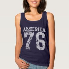 Cute Patriotic America Est 1776 Tank Top