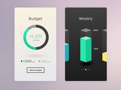 Great work from a designer in the Dribbble community; your best resource to discover and connect with designers worldwide. Web Design, Flat Design, Design Ideas, Graphic Design, Mobile Ui Design, Ui Inspiration, User Interface Design, Data Visualization, Money Management