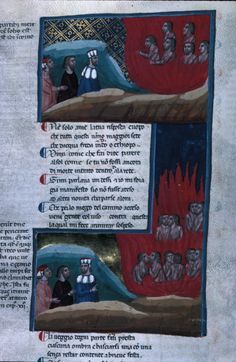 From the Medieval Manuscripts blog post 'No Rest for the Wicked: Dante's Inferno'.