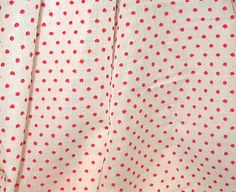Dotted Swiss, Woven Red Dots on White, 54""