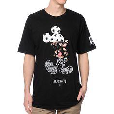 Neff x Disney Mickey Swag Black Tee Shirt