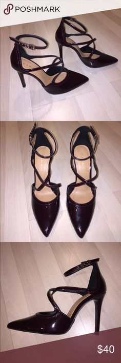 """Brand New Zara Deep Plum Stilettos Never been worn, comes with the original bag, perfect condition, deep plum color! Super sexy and slinky on! They say they are a size """"39"""", but I wear a size 7.5. Zara Shoes Heels"""