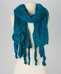 Teal Rosebud Shawl   Daily deals for moms, babies and kids