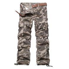 Uni-Splendor 2017 New Brand Mens Cargo Pants Military Style Multi Pocket Army Pants Long Casual Camouflage Pants Men Mens Khaki Cargo Pants, Camouflage Cargo Pants, Army Pants, Combat Pants, Military Pants, Mens Cargo, Trousers Mens, Hunting Camouflage, Military Army