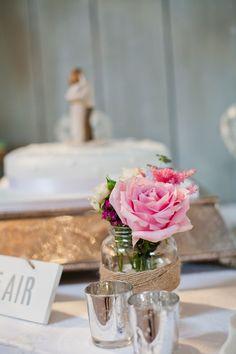 Mason jar with twine - wedding table centrepiece - Wedding Dress Mason Jar Centerpieces, Wedding Table Centerpieces, Mason Jars, Table Decorations, Wedding Flowers, Wedding Day, Wedding Dresses, Love Jar, Engagement Shoots