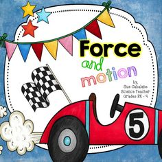 Force & Motion {NGSS aligned and by Science for Kids by Sue Cahalane 1st Grade Science, Kindergarten Science, Science Classroom, Teaching Science, Science For Kids, Teaching Ideas, Science Fun, Elementary Science, Science Experiments