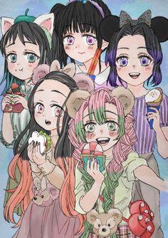 Demon Slayer: Kimetsu No Yaiba Manga Online Slayer Meme, Demon Slayer, Anime Angel, Anime Demon, Girls Characters, Anime Characters, Anime Girl Pink, Demon Hunter, Killua