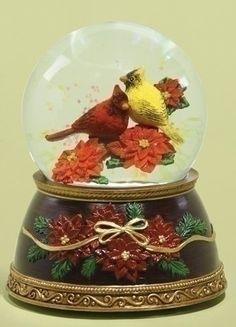 "5.38"" Musical Red and Yellow Cardinal Bird on Poinsettias Christmas Glitterdome Roman,http://www.amazon.com/dp/B00EDR850S/ref=cm_sw_r_pi_dp_.H-Isb0S65JX8KH2"