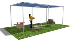 DIY Shade Structure in Sketchup by Simplified Building Concepts, via Flickr