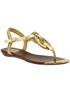 DV by Dolce Vita Agnyss | Piperlime  Gold sandal with gold rope accents