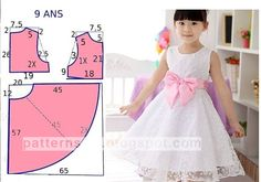 African Dresses For Kids, Gowns For Girls, Frocks For Girls, Dresses Kids Girl, Baby Girl Dress Patterns, Dress Sewing Patterns, Dress Anak, Designs For Dresses, Girls Fashion Clothes