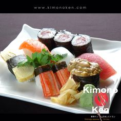 Sushi Moriawase When eating Sushi, do not drench too much in soy sauce or else the perfect taste of the Sushi will be overpowered by the sauce. www.kimonoken.com  #kimonoken #sushifacts #japaneserestaurant