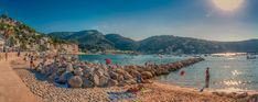 #bathing #beach #beach panorama #city #city beach #hdr #holiday #majorca #panorama #port de soller #promenade #recreation #sandy beach #sea #sller #stony beach #sunset #travel #trip
