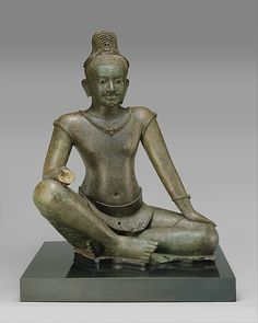 The Bodhisattva Avalokiteshvara Seated in Royal Ease, late 10th–early 11th century. Cambodia. The Metropolitan Museum of Art, New York. Purchase, The Annenberg Foundation Gift, 1992 (1992.336) #mustache #movember