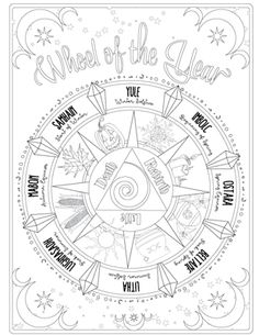 Printable Pages for your Book of Shadows | Coloring Book of Shadows ...