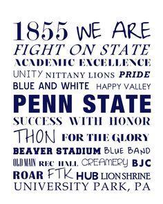 Nittany Lions - Penn State #PSU #Printable