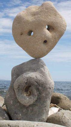 Adrian Gray Rock Sculpture