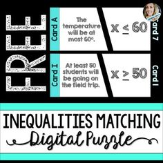 Free Inequalities Matching Puzzle - GOOGLE EDITION