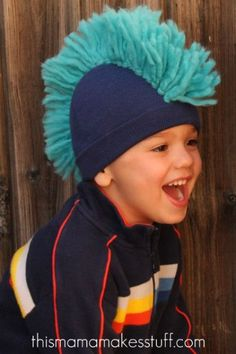 mohawk beanie tutorial...must make for the nephews. it'd be cute with crazy pigtails for a girl.
