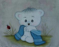 fraldas pintadas a mão.Acabamento em crochê e tecido
