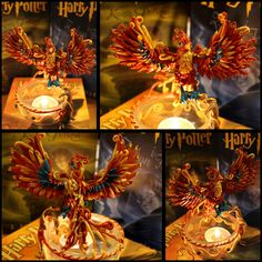 Polymer clay phoenix