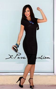 X-POSE Fashion - Sexy Mid-Length Bodycon Dress in Red, $42.00 ...