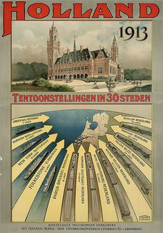 🇳🇱🌷🇳🇱 Holland 1913:Oude Hollandse reclameposters. Vintage Advertising Posters, Vintage Travel Posters, Vintage Advertisements, Vintage Ads, Art Deco Posters, Cool Posters, Rotterdam, Basel, Travel Ads