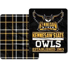 The Northwest Company Kennesaw State University 60 in x 70 in Cloud Throw Blanket (Black, Size ) - NCAA Licensed Product, NCAA Novelty at Academy S...