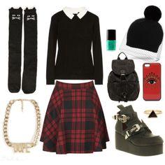 Cute grunge style.