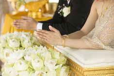 Buddhism has been a strong religion for over years, making it steeped in long-held traditions for almost everything, and weddings are no exception. Korean Bride, Chinese Bride, Buddhist Wedding, White Wedding Dresses, Buddhism, Wedding Details, Wedding Styles, Wedding Ceremony, Wedding Planning
