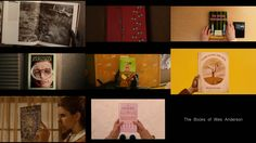 Montage of Book references in Wes Anderson's films.Cut together in this order: The Life Aquatic of Steve Zissou, Fantastic Mr. Fox, Rushmore, and The Grand Budapest Hotel