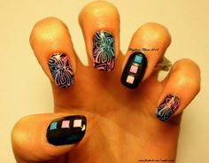 Nails by me www.facebook.com/nutsfornails. All stamping colors and plate by #moyounails