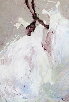 Tutu by artist Laurence Amelie Abstract Painters, Abstract Art, Arte Shabby Chic, Laurence Amelie, Ballet Art, Art For Art Sake, Dance Art, Colorful Paintings, French Artists