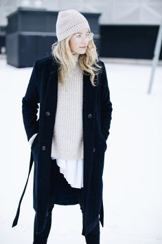Anouk Yve, Chunky knit and winter hat