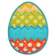 Chevron Egg Applique - 3 Sizes!   Easter   Machine Embroidery Designs   SWAKembroidery.com Applique Time
