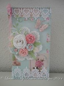 Card made with Diemond Dies Realistic Roses Die Set, Small Butterfly Die Set, Nature's Flourish Die, and Fern Leaf Die created by Leonie (mypassionforpaper).