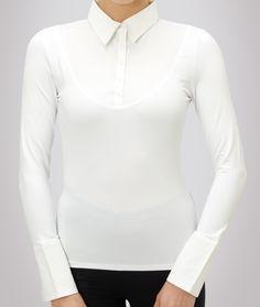 6ee3b127844 White Long Sleeve Skinny Shirt White Long Sleeve