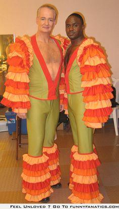 Colin Mochrie and Wayne Brady looking fabulous