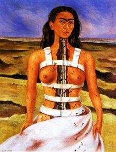 Frida Kahlo - La Colonne Brisée | Autoportrait 1944