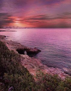 Photograph crete by Patrick Strik on Wonderful Places, Beautiful Places, Amazing Places, Ocean Scenes, Beach Art, Crete, Beautiful Sunset, Places Ive Been, The Good Place